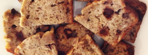 Banana chocolate walnut bread