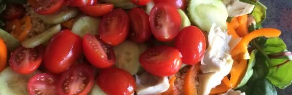 Lemon quinoa kale salad
